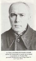 Généalogie : Faire-part Décés - Carte Mortuaire - Maximilien-marie KOLBE - Martyr à Auschwitz Le 14 Aout 1941 : 2 Volets - Obituary Notices