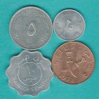 Yemen - People's Democratic Republic - 2½ (1973 - KM3), 5 (1971 - KM2 & 1973 - KM4) & 10 Fils (1981 - KM9) - Yémen