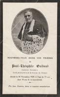 Généalogie : Faire-part Décés - Carte Mortuaire - P.t. GUIBAUD :1929 -curé-archiprètre De St-nicolas De Romans - Drome - Décès