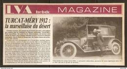 Coupure De Presse - OLD CAR VIEILLE VOITURE TURCAT MÉRY 1912 CARROSSERIE LABOURDETTE - Cars