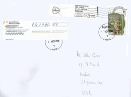 "Nederland Netherlands 2018 Heerlen Meter Tree Frog Hytech ""1710"" EMA Returned Cover - Marcofilie - EMA (Print Machine)"
