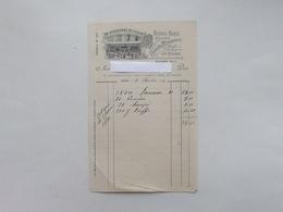 DIJON (21): Facture 1901 AUX GRANDES PECHERIES Huîtres, Marée, Ecrevisse, Gibier - NIQUEVERT Rue Bannelier - France