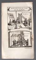 (Chine) Manufacture De Soie Tirée De Du Halde  (gravure Ancienne Originale) (PPP16779) - Vieux Papiers
