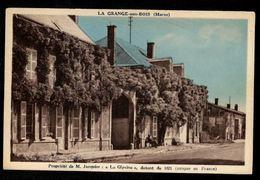 """51 LA GRANGE AUX BOIS (Marne) Propriété De M. Jacquier : """"La Glycine"""", Datant De 1871 - Otros Municipios"""