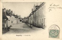 "1 Cpa Seignelay - Grande Rue  ""pionnière 1901"" - Seignelay"