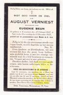 DP August Verniest ° Knesselare 1847 † Ieper 1925 X Eugenie Beun - Images Religieuses