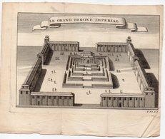 (Chine) Peking Le Grand Throne Impérial   (gravure Ancienne Originale) (PPP16782) - Vieux Papiers