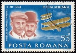 ROMANIA - Scott #C223 Wright Brothers (*) / Used Stamp - Poste Aérienne