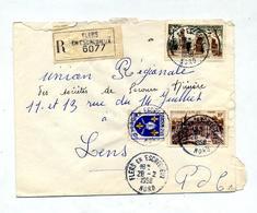 Lettre Recommandee Flers Sur Elysee Saint Remy - Marcophilie (Lettres)