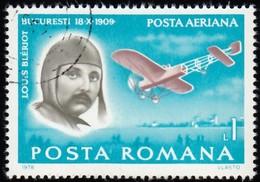 ROMANIA - Scott #C224 Louis Blériot (*) / Used Stamp - Poste Aérienne