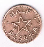 HALF PESEWA 1967 GHANA /0385/ - Ghana