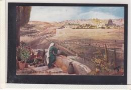 JERUSALEM, ISRAEL, FRON THE MOUNT OF OLIVES, OILETTE, TP1 - Palestine