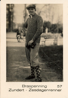 Early Advertisement Card,Zesdaagse, Wielrenner, Braspenning, Zundert, Real Photo - Cyclisme