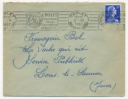 Enveloppe - OMEC RBV - CHOLET (Maine Et Loire) - Mouchoirs / Toiles / Tout Textiles / De Qualité - 1957 - Postmark Collection (Covers)
