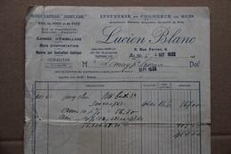 Facture Lucien Blanc, Industrie Et Commerce De Bois, Scierie, à Albi (Tarn), 1933 - France