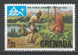 Grenada 1975. Scott #644 (MNH) Boy Scout World Jamboree * - Grenade (1974-...)