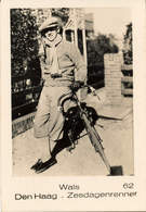 Early Advertisement Card,Zesdaagse, Wielrenner, Wals, Den Haag, Real Photo - Cyclisme