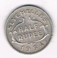 HALF RUPEE  1954 (mintage 72000ex.) SEYCHELLEN /0387/ - Seychelles