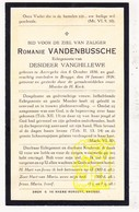 DP Romanie VandenBussche ° Aartrijke Zedelgem 1856 † Brugge 1934 X D. VanGhillewe - Images Religieuses