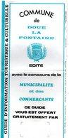 DOUE  LA Fontaine (49)   1 Guide - 1 Dépliant Parc Zoologique  -  Tickets D'entrée Zoo De Doué, Musée - Dépliants Touristiques