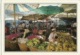 AK Thailand Markt Bananen Farbfoto1988 #0103 - Thaïlande