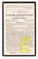 DP Louise Vermeulen ° Aartrijke Zedelgem 1856 † 1921 X Pieter Boffel - Images Religieuses
