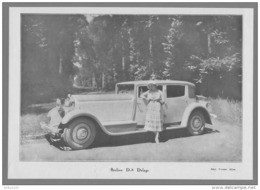 BERLINE D-8 DELAGE - 16,3 X 23 Cm - Cars
