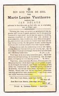 DP Marie L. VanThorre ° Aartrijke Zedelgem 1863 † 1937 X Jan Delaye - Images Religieuses