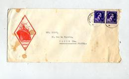 Lettre Cachet Wevelgem Sur Roi Illustré Bateau - Postmarks - Points