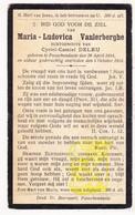 DP Maria L. Vanlerberghe ° Passendale Zonnebeke 1884 † 1924 X Cyriel C. DeLeu - Images Religieuses