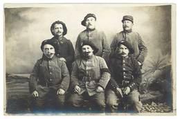 Cpa Carte-photo Soldats Chasseurs Alpins ( 14e & 159e Régiments ), écrite De Valréas ( Vaucluse ) - Personnages