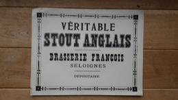 "Affiche BRASSERIE ""François""  SELOIGNES - Affiches"