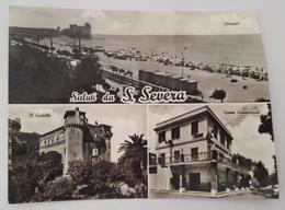 SANTA SEVERA (Roma) - Saluti Da Santa Severa - Spiaggia Castello Centro Commerciale (S. Marinella)    VG - Altre Città