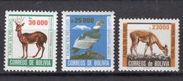 1985 - BOLIVIA - Catg.. Mi. 1025+1028/1029 - NH - (CW1822.5) - Bolivia