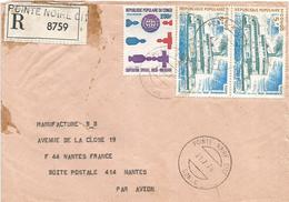 Congo 1976 Pointe Noire Cite Russia USA Space Cooperation Riverboat Registered Cover - Afgestempeld