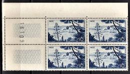 FRANCE 1955 - BLOC DE 4 TP  Y.T. N° 1038 COIN DE FEUILLE - NEUFS** - France