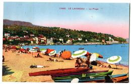 CPA 83 LE LAVANDOU Plage ( à Melle Thévenin De Vichy ) - Le Lavandou