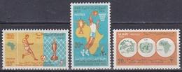 Ägypten Egypt 1970 Sport Spiele Basketball Fußball Football Soccer Organisationen Postunion Postal Union, Mi. 987-9 ** - Ungebraucht