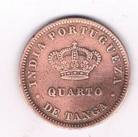 QUARTO DE TANGA 1886 GOA (India Portugese )INDIA /0395/ - Inde