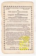 DP Leopold VandeWalle ° Aartrijke Zedelgem 1835 † 1919 X Sofia C. VanHoutte - Images Religieuses