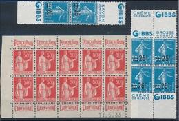 CK-189:FRANCE: Lot  Avec Pub NSG 217d (3)-283a 1/2 Feuille(amorce Séparation Entre 4ème Et 5ème Timbre - Advertising