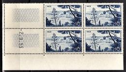 FRANCE 1955 - BLOC DE 4 TP  Y.T. N° 1038 COIN DE FEUILLE / DATE- NEUFS** - Coins Datés