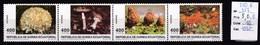 4 Timbres Neufs ** De Guinée équatoriale Champignon (Morille,Amanite, Sparassis) N° 350 à 353 - Pilze