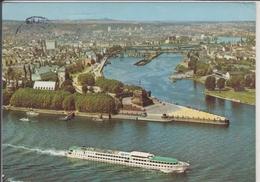 KOBLENZ Am Rhein  Deutsches Eck Mit Moselmündung  Fahrgastschiff - Koblenz