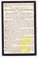 DP Ferdinand VandenBussche ° Aartrijke 1850 † Zedelgem 1911 X Maria L. VandeKerckhove - Images Religieuses