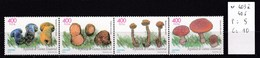 4 Timbres Neufs** Guinée équatoriale, N° 403 à 406 Champignon - Pilze