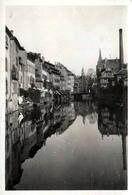 Photo Originale Jolis Reflets Sur Strasbourg (67000) Effet Miroir En Septembre 1929 Sur Le Quartier De La Petite France - Lieux