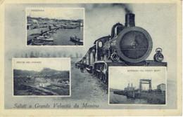 Saluti A Grande Velocita Da Messina Train Vapeur Gare Locomotiva - Messina