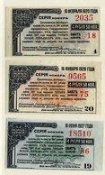 SIBERIA & URALS (Irkutsk) State Bank Loan Coupons 4.50 Ruble   UNC  S884, 888, 892 - Russia