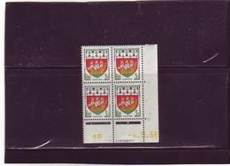 N° 1185 - 3F Blason De NANTES - B De A+B - Tirage Du 4.11.58 Au 7.11.58 -4.11.1958 - 1° Jour De L'émission Du Timbre - - Coins Datés